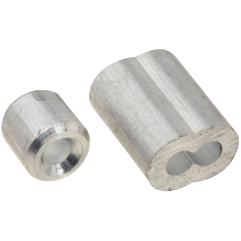 National 1/8 In. Aluminum Garage Door Ferrule & Stop Kit Image 1