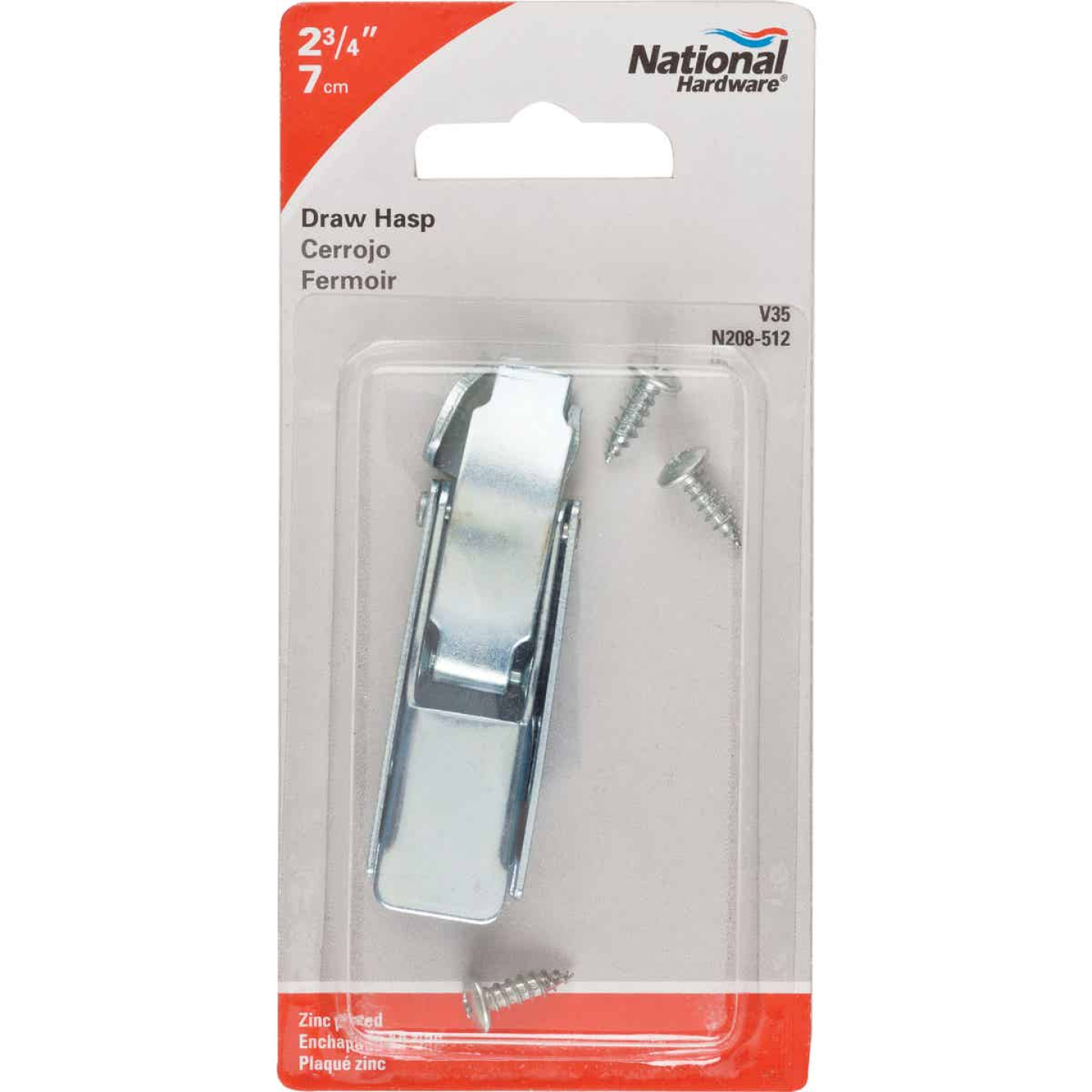 National 2-3/4 In. Zinc Draw Hasp Image 2