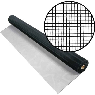 Phifer 24 In. x 100 Ft. Black Aluminum Screen