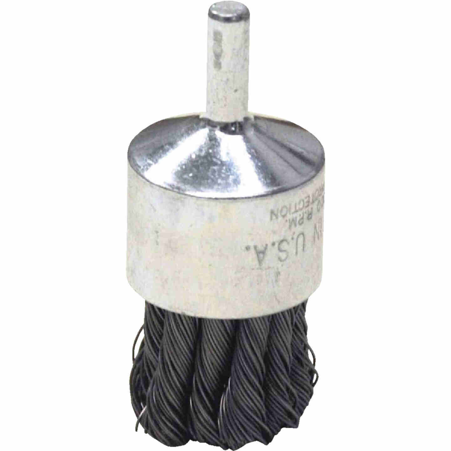 Weiler Vortec 1 In. Professional Shank-Mounted Drill-Mounted Wire Brush Image 1