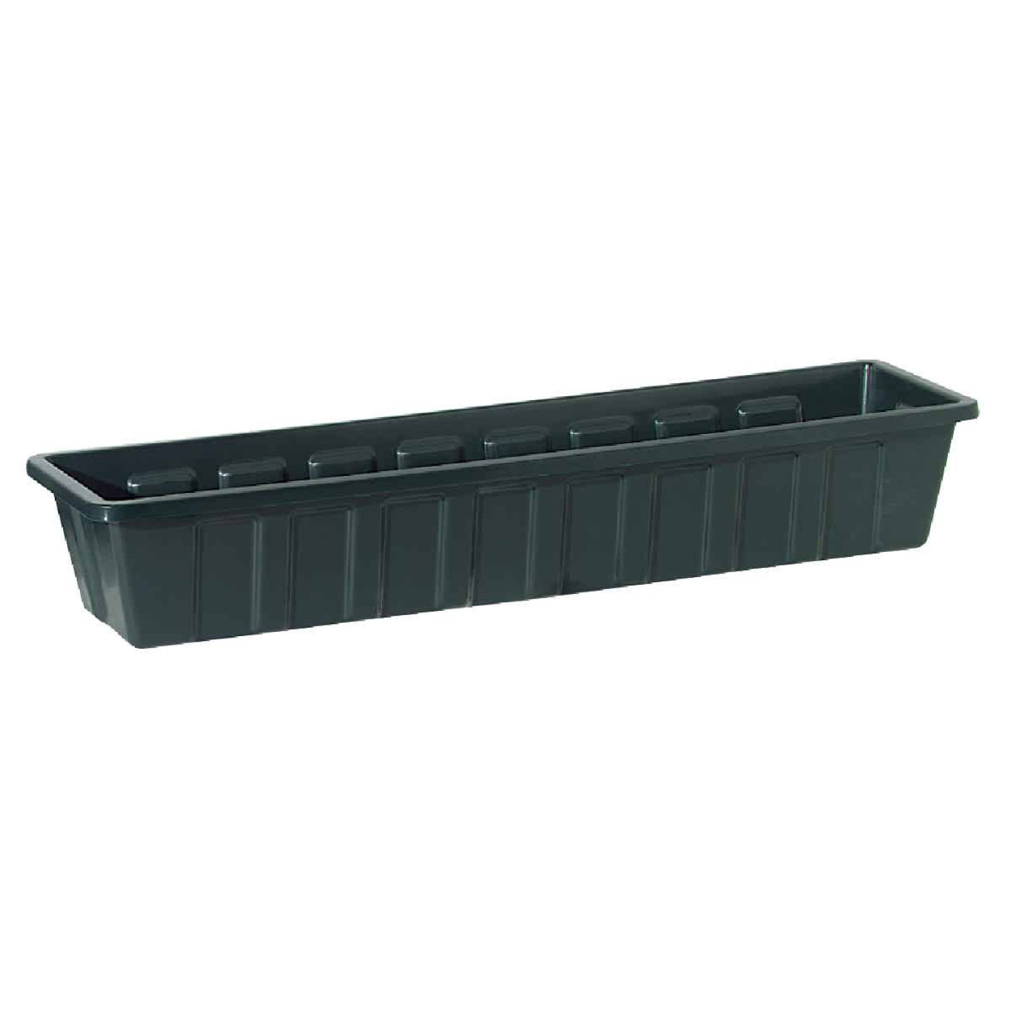 Novelty Poly-Pro 18 In. Polypropylene Hunter Green Flower Box Planter Image 1
